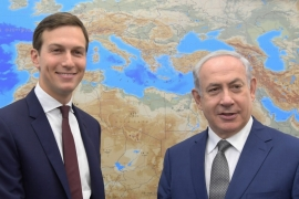 US President Donald Trump's son-in-law and adviser Jared Kushner meets with Israeli Prime Minister Benjamin Netanyahu in Jerusalem on August 24, 2017 [File: Handout/Anadolu Agency]