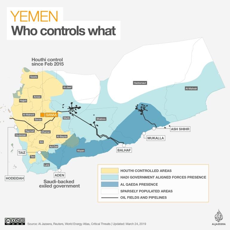 INTERACTIVE: Yemen control map March 25 2019