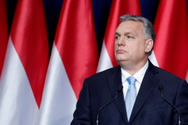 The move against Victor Orban's Fidesz comes just months before European Parliament elections [File: Bernadett Szabo/Reuters]