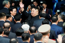 When rumours spread of Kim's possible visit to Seoul last December, a poll by Realmeter found 61 percent of South Koreans willing to welcome the North Korean leader [Kim Kyung-Hoon/Reuters]