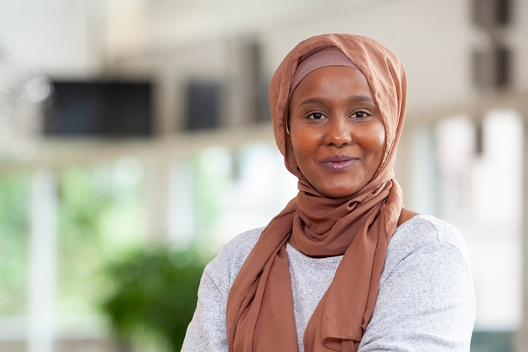 Leila Ali Elmi arrived in Sweden as a two-year-old refugee from Somalia [Courtesy: Leila Ali Elmi]