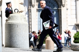 Italy's Minister of Education Marco Bussetti arrives at the Quirinal palace in Rome, Italy on June 1, 2018 [File: Alessandro Bianchi/Reuters]