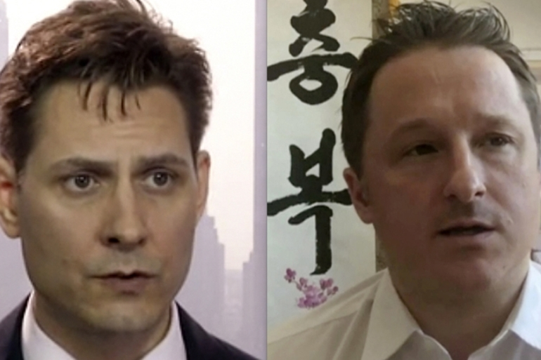 Michael Kovrig, an adviser with the International Crisis Group, and Michael Spavor, a businessman, have been detained in China for a year [File: AP Photo]