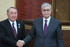 Kassym-Jomart Tokayev took oath as Kazakhstan's new president in the presence of his predecessor Nursultan Nazarbayev in Astana, Kazakhstan on March 20, 2019 [Anadolu]