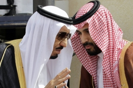King Salman and Prince Mohammed are said to have disagreed on a number of key issues, including Yemen. [File: Hassan Ammar/AP Photo]