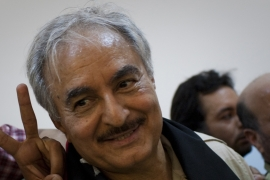 Is Haftar an aggressor or leader in Libya?
