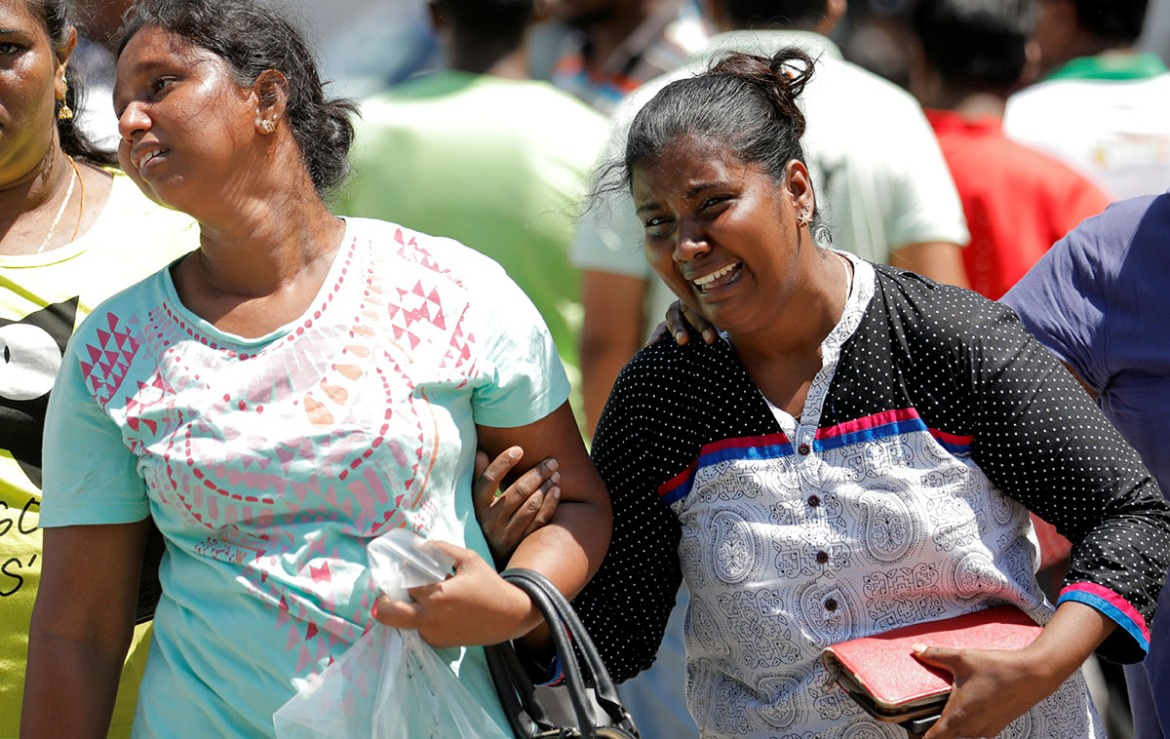Nearly all victims were Sri Lankan. Dozens of foreigners were also killed. There were no claims of responsibility for the attacks. [Dinuka Liyanawatte/Reuters]