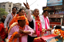 "VK Singh, BJP's candidate from Ghaziabad says ""national security is always an issue [Vijay Pandey/Al Jazeera]"
