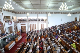 The House of Federation 'decided the federal government should sever any kind of relationship with the Tigray regional state assembly and the region's highest executive body'. [File: Tiksa Negeri/Reuters]