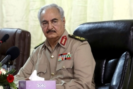 Haftar has vowed to continue his offensive until Libya is 'cleansed of terrorism' [File: Esam Omran Al-Fetori/Reuters]