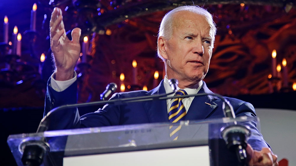 Former Vice President Joe Biden speaks at the Biden Courage Awards last year in New York. [Frank Franklin II/AP Photo]