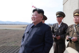 Kim described the missile development as one 'of very weighty significance in increasing the combat power of the People's Army [File: KCNA via Reuters]