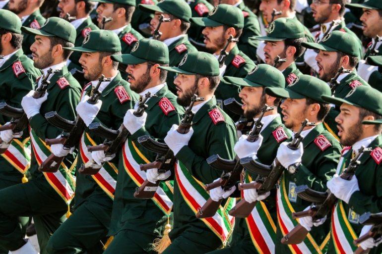 The United States designated Iran's Islamic Revolutionary Guard Corps as a foreign 'terrorist organisation' in April 2019 [File: AFP]