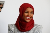 Aden first made headlines in 2016, when she was the first woman to wear a hijab in the Miss Minnesota USA pageant [File: Brendan McDermid/Reuters]