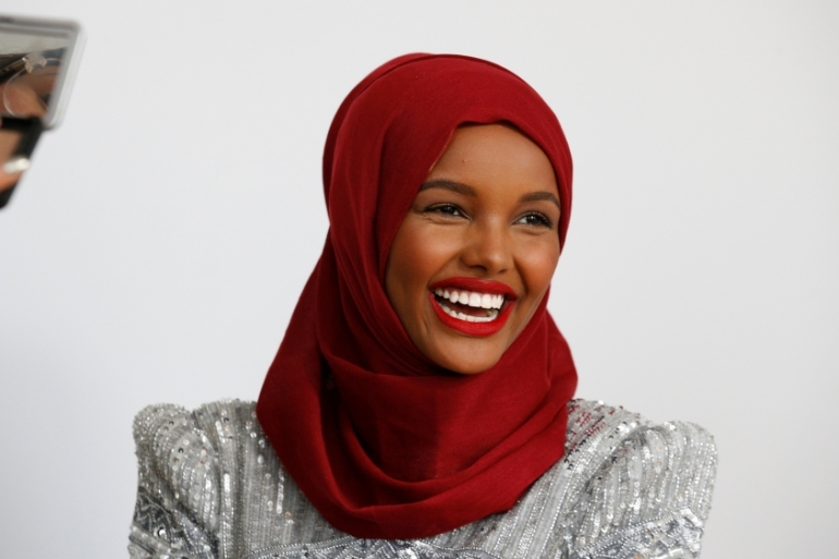 Halima Aden was the first contestant to wear a hijab at a Miss USA beauty pageant in Minnesota in 2016 [Brendan McDermid/Reuters]
