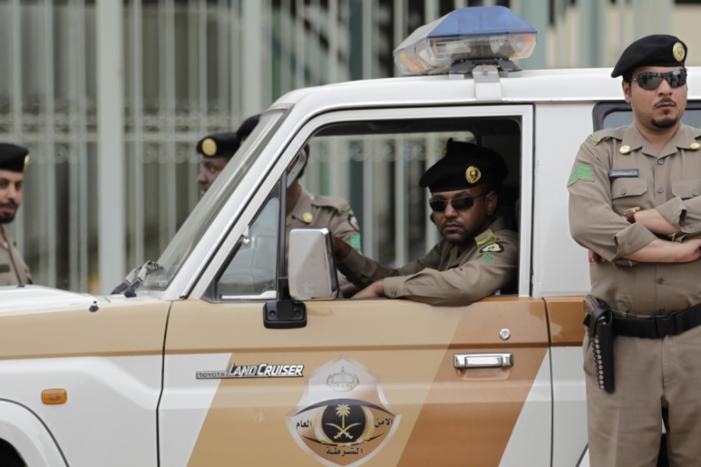 Three policemen were wounded in a gun battle on Sunday while defending the facility in Zulfi, the Saudi Press Agency reported [File: Hassan Ammar/AP]