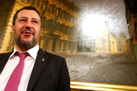 Salvini has waged a campaign against rescue NGOs in the Mediterranean and curbed asylum rights [Reuters]