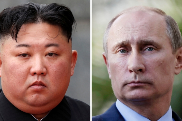 The Putin-Kim meet will likely take place in Russia's far eastern city of Vladivostok, according to Russian media reports [File: Jorge Silva/Maxim Shipenkov/Reuters]