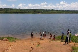During the genocide, bodies floated in the clear waters of Lake Mugesera [Hamza Mohamed/Al Jazeera]