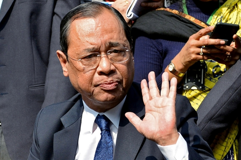 Gogoi said the allegations were an attempt to stop him from hearing important cases in the Supreme Court [File: Reuters]