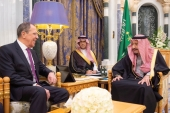 Saudi Arabia's King Salman bin Abdulaziz meets with Russia's Foreign Minister Sergey Lavrov in Riyadh, Saudi Arabia March 5, 2019 [File: Bandar Algaloud/Courtesy of Saudi Royal Court via Reuters]