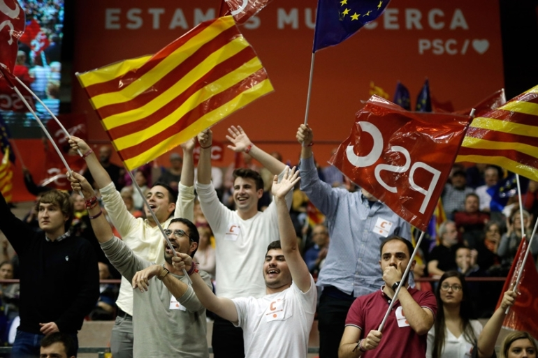 This election is the first nationwide vote since the Catalan referendum on seceding from Spain [AFP]