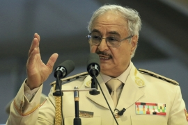 Haftar described his forces' move as a 'victorious march' [File: Abdullah Doma/AFP]