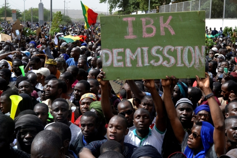 Organisers said 15,000 people attended the march on Friday [Keita Amadou/Reuters]