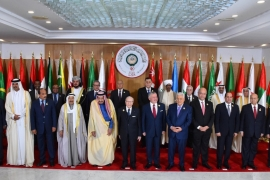 Arab leaders pose for the camera ahead of the 30th Arab Summit in Tunis, Tunisia on March 31, 2019 [The Egyptian Presidency/Handout via Reuters]