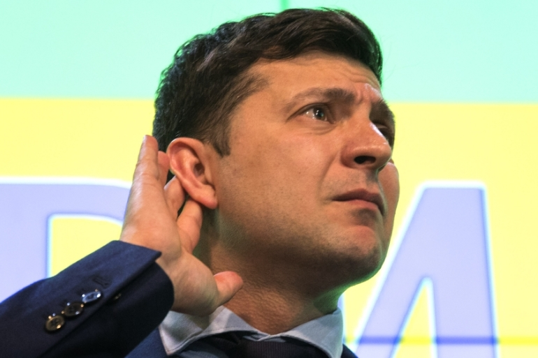 Zelensky has avoided giving details of how he intends to fix the country, critics say [Emilio Morenatti/AP]