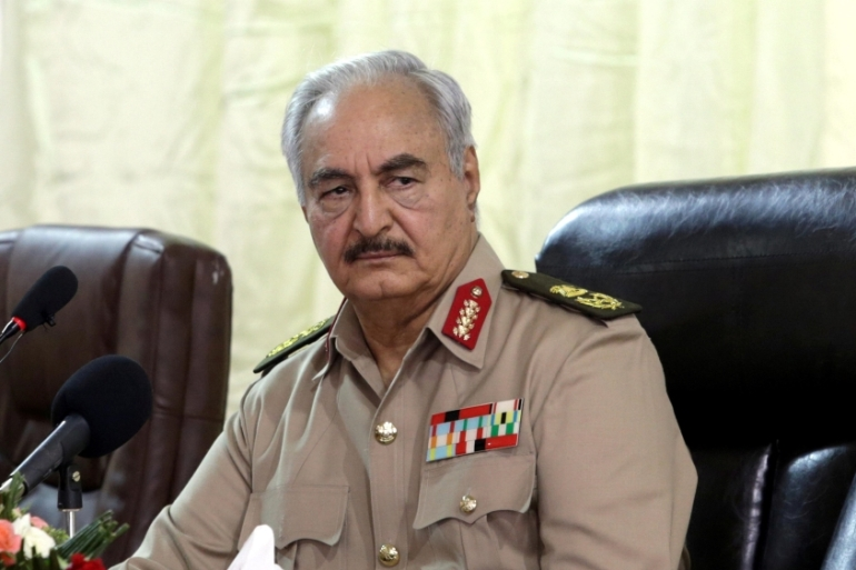 In early April, renegade military commander Khalifa Haftar launched a military operation against the Libyan UN-recognised government in Tripoli [File: Reuters/Esam Omran al-Fetori]