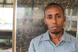 Despite being Kenyan, Shariff Omar registered himself as a Somali refugee to receive support with education but claims he is now being denied citizenship [Osman Mohamed Osman/Al Jazeera]