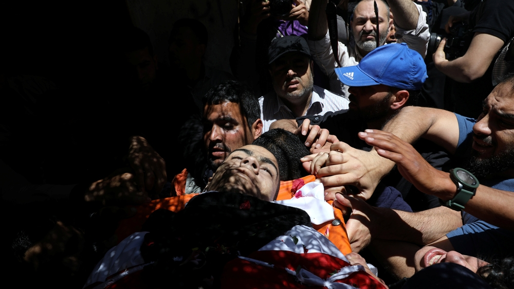 Raed Abu Tair was killed during a protest at the fence on Friday [Mohammed Salem/Reuters]