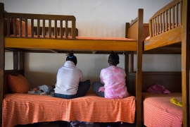 Dagim and her twin sister Yebasera are recovering from their long nightmare of sexual abuse by their uncle at the Awsad centre in Addis Ababa [Michael Tewelde/Al Jazeera]