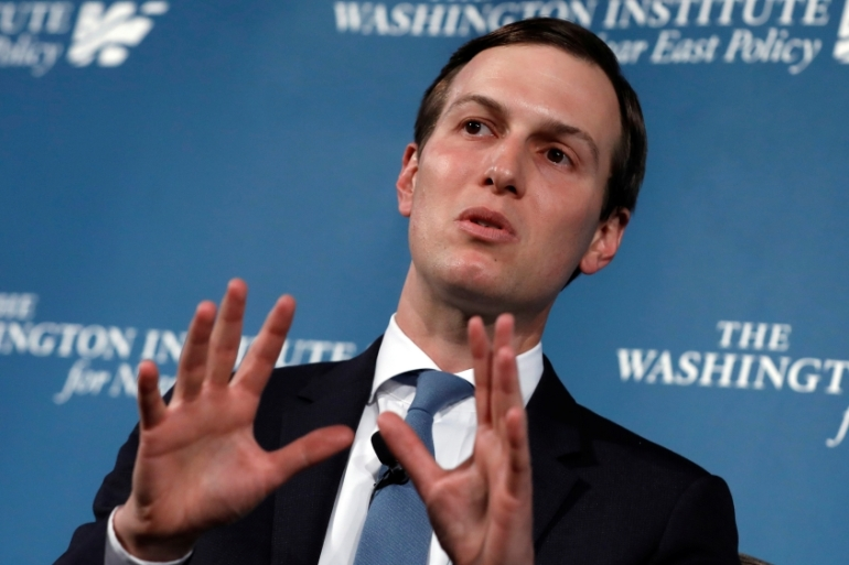 Jared Kushner has declined to say whether the plan will include a two-state solution, a key goal of other peace efforts [Yuri Gripas/Reuters]
