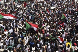 Demonstrators gather in Sudan's capital Khartoum a day after Omar al-Bashir was removed in a coup [File: AP Photo]