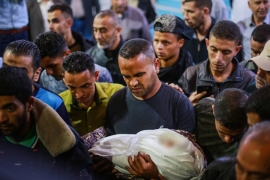 Israel has carried out numerous retaliatory attacks against in the Gaza Strip since Saturday [Bashar Talib/Al Jazeera]