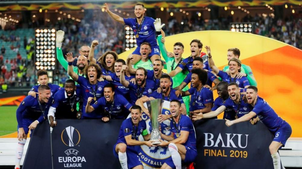Europa League Final Chelsea Beat Arsenal 4 1 Football News Al Jazeera