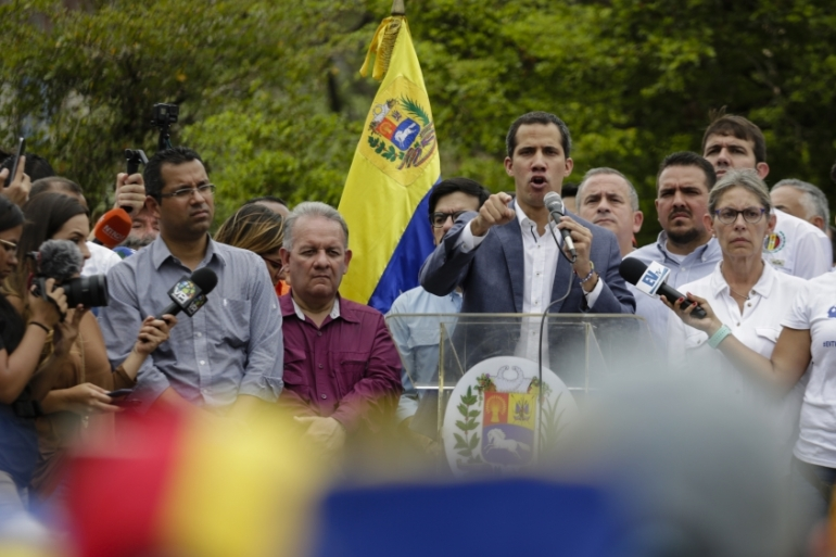 Juan Guaido continues to call for mass demonstrations against President Nicolas Maduro [Eva Marie Uzcategui/Getty Images]