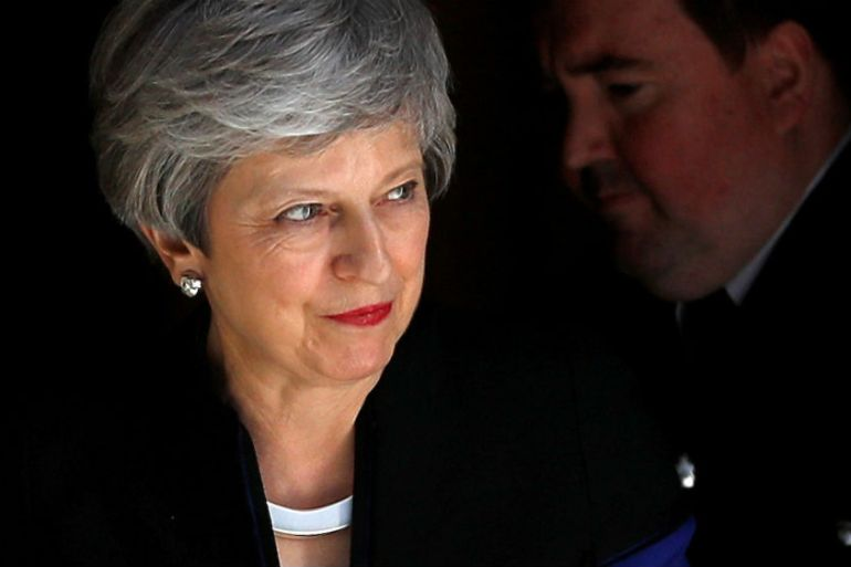 Theresa May has agreed to announce a departure date in June [Peter Nicholls/Reuters]
