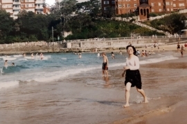 Ling Xie, Maree Ma's mother, on a beach in Sydney in the 1980s [Maree Ma/Al Jazeera]