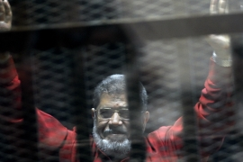 Morsi was deposed in a 2013 military coup carried out by current President Abdel-Fattah el-Sisi following a year in power [File: Ahmed Omar/AP]