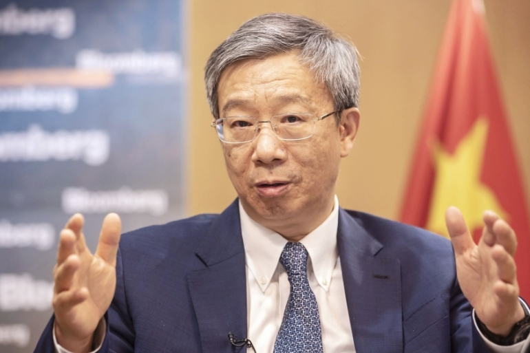 People''s Bank of China Governor Yi Gang says China has 'tremendous' room to adjust monetary policy if the trade war with the US deepens [Qilai Shen/Bloomberg]