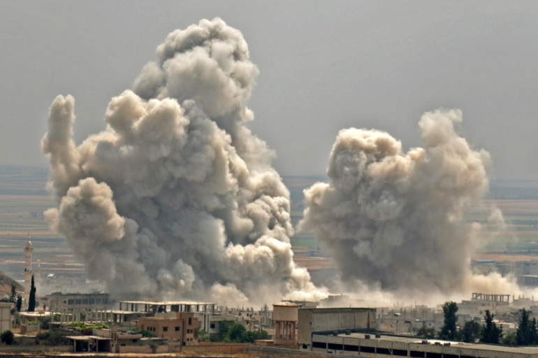 The rebel stronghold of northwest Syria has come under deadly regime bombardment in recent weeks [File: Anas AL-dyab/AFP]