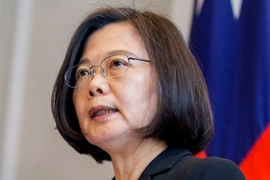Taiwan's President Tsai Ing-wen accused China of 'dollar diplomacy' after the Solomon Islands decided to establish diplomatic relations with China instead of Taiwan [File: Taiwan Presidential Office via AP Photo]