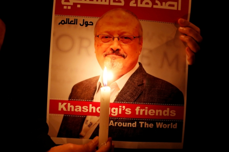 Khashoggi was killed by a Saudi hit squad shortly after he entered to building on October 2 [Lefteris Pitarakis/AP]