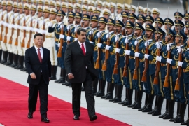 File: Chinese President Xi Jinping walks next to Venezuela''s President Nicolas Maduro during his welcoming ceremony in Beijing, China September 14, 2018 [File: Reuters]