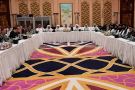 The most recent round of talks between the US and the Taliban began in Doha on Saturday [File: AP]