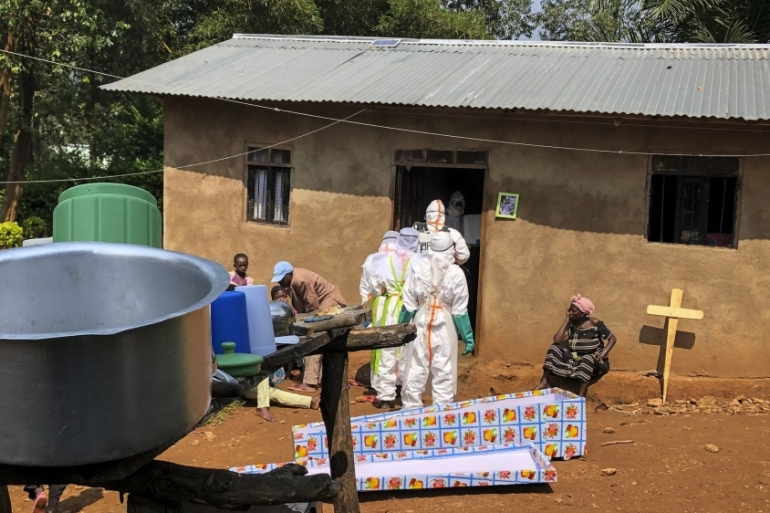 More than 1,500 people have died since the DRC's current Ebola epidemic erupted in the country's eastern North Kivu and Ituri provinces last year [File: Al-hadji Kudra Maliro/AP]
