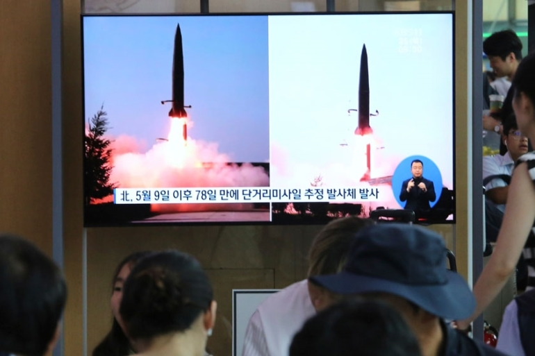 Pyongyang carried out similar missile launches in May [Ahn Young-joon/AP Photo]